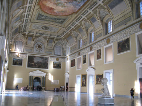 National Archaeological Museum in Naples Italy