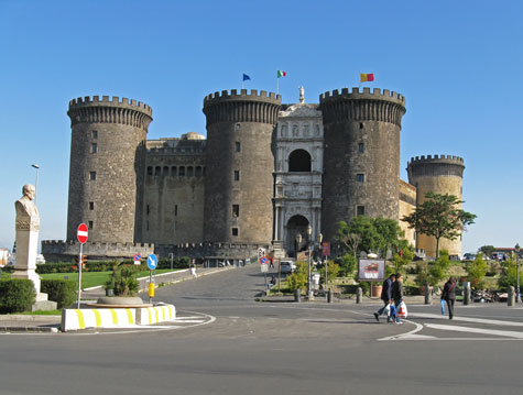 Castle in Naples Italy